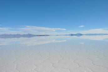 The reflexion of a sureal wet Uyuni Salt Flat, Bolivia
