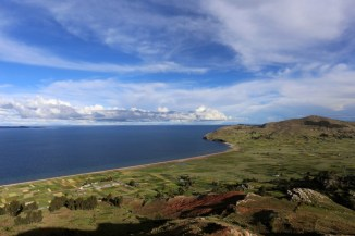 Impressive view of the Lake Titicaca, Peru