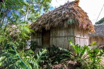 A traditional Mayan hut in Nuevo Durango, in Yucatan Mexico