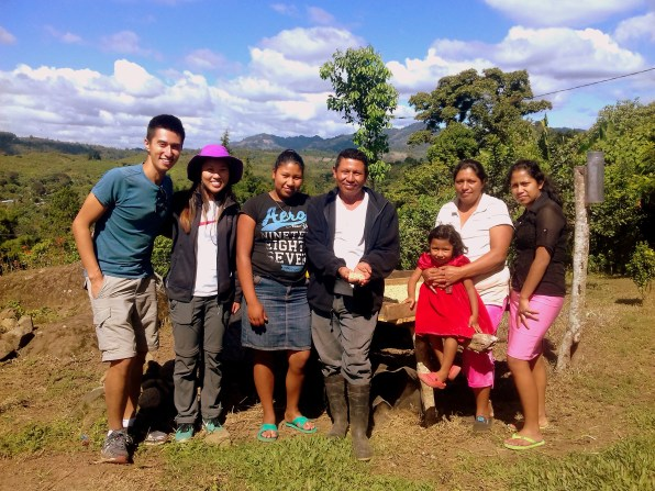 Don Augustin and his family opening up their small coffee finca to travellers visiting Nicaragua