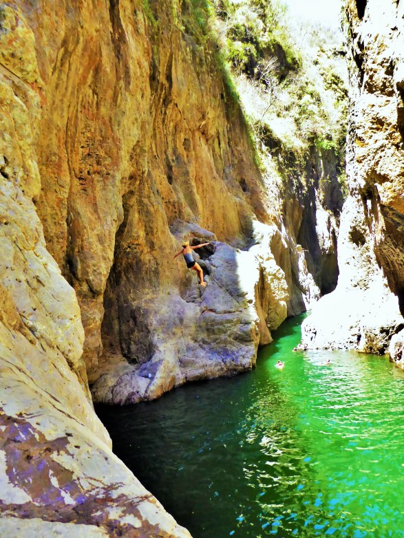 Ouch: jumping into the Somoto Canyon, Nicaragua