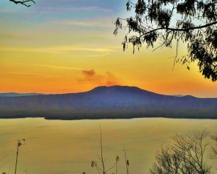 Smoke at sunset from Masaya Volcano, Nicaragua