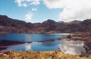 An incredible lake at the Cajas National Park near Cuenca, Ecuador