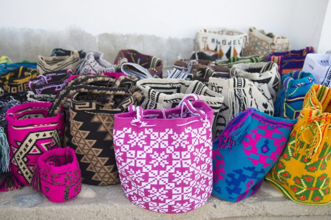 Colourful indigenous Wayuu bags from La Guajira, Colombia