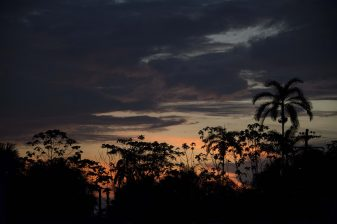 Impressive sunset in Leticia, Amazon Rainforest, Colombia