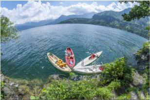 Kayaking on the impressive Atitlan Lake, Guatemala