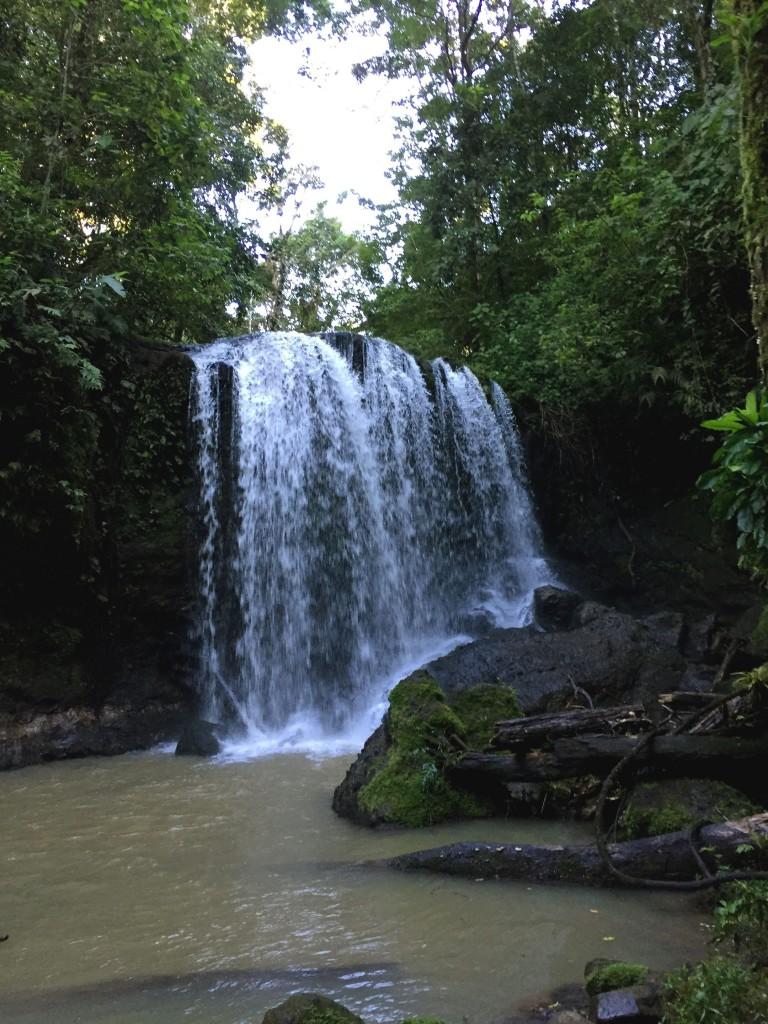 The beautiful hidden Juanilama waterfall, Costa Rica