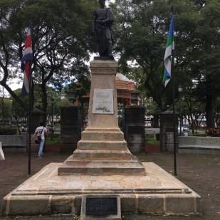 Simon Bolivar statue at the Morazan Park in San Jose, Costa Rica.