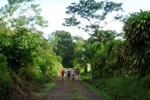 Returning from a birdwatching tour near Finca Sura in Costa Rica