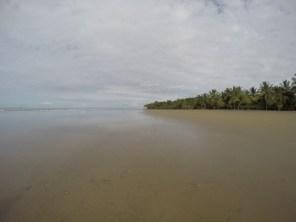 The beautiful Uvita beach at Costa Rica's Marino Ballena National Park.