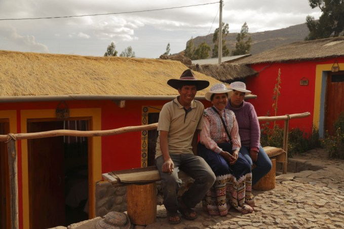 Our hosts in Coporaque, Peru