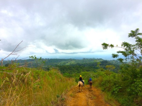 Horseback riding near Tenorio Volcano National Park in Costa Rica