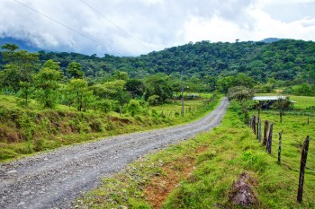 The rural community of Guatuso near the Tenorio Volcano National Park in Costa Rica