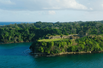 San Lorenzo Castle by the Chagres River during a Panama holiday