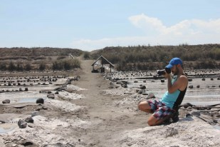 Visiting a salt farm near El Paredon in Guatemala