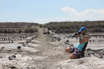 Visiting a salt farm near El Paredon in Guatemala