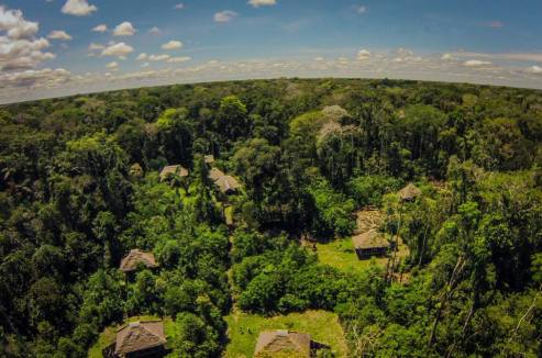 Pankotsi's headquarters and cabins, where travellers can enjoy the jungle and have privacy, even with open air showers