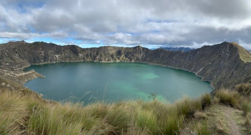The Quilotoa lake, as seen during the Quilotoa Loop in Ecuador