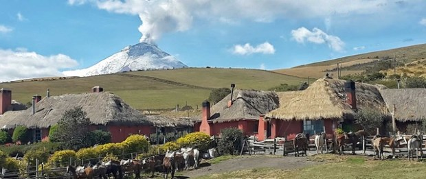 The lovely Hacienda El Porvenir in the Andes near Quito, Ecuador