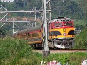 During the train excursion across the Canal Railway in Panama