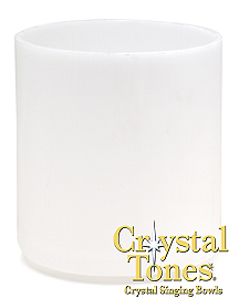 Ultra light frosted crystal singing bowl