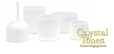 Ultra light frosted crystal singing bowls