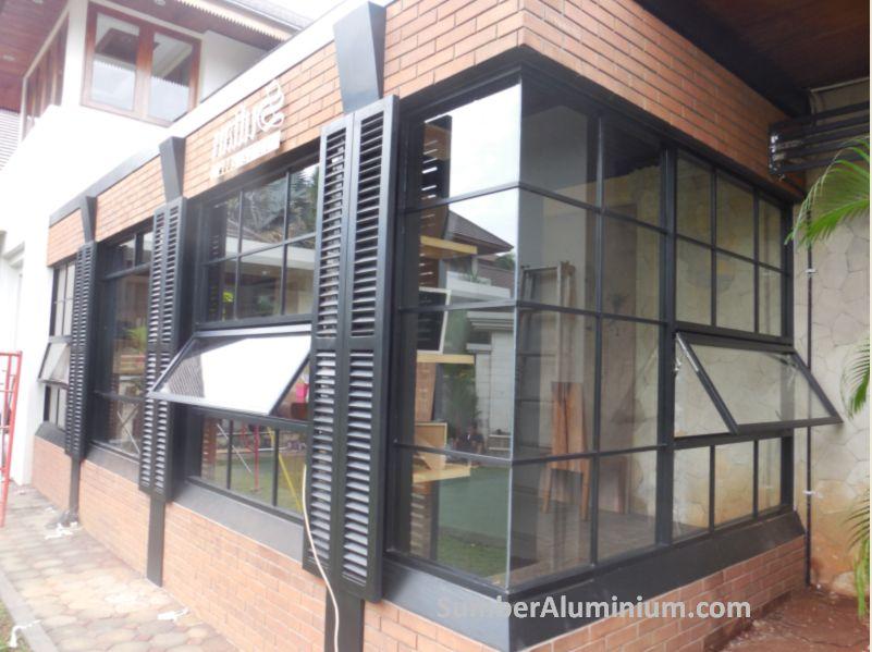 Kusen Jendela Aluminium Kaca