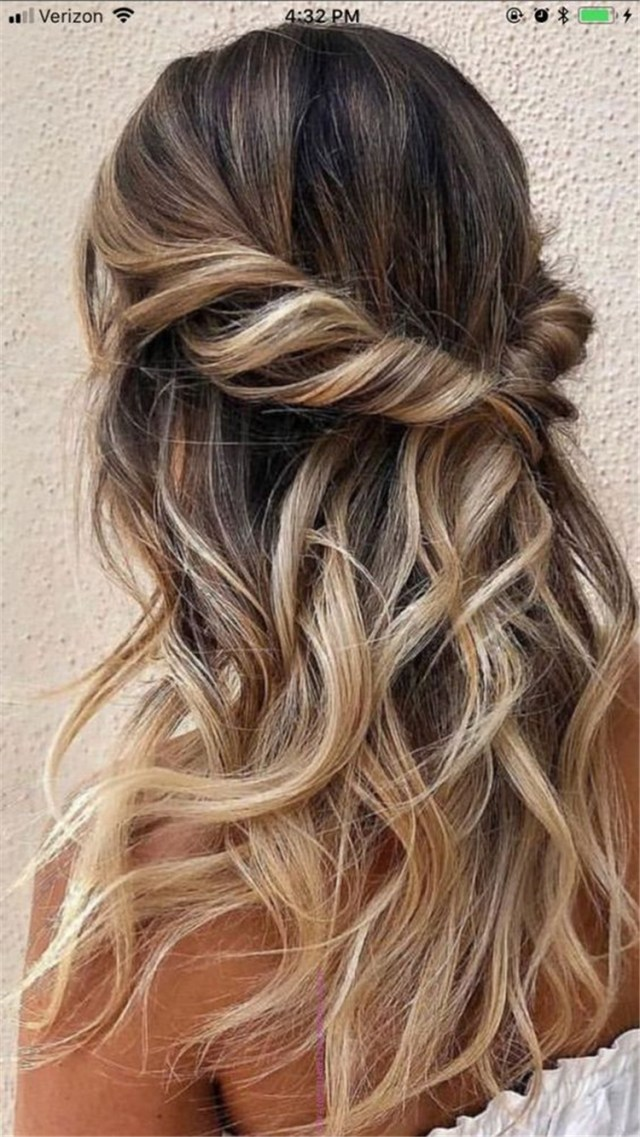 25 glamorous wedding hair half up half down hairstyles sumcoco