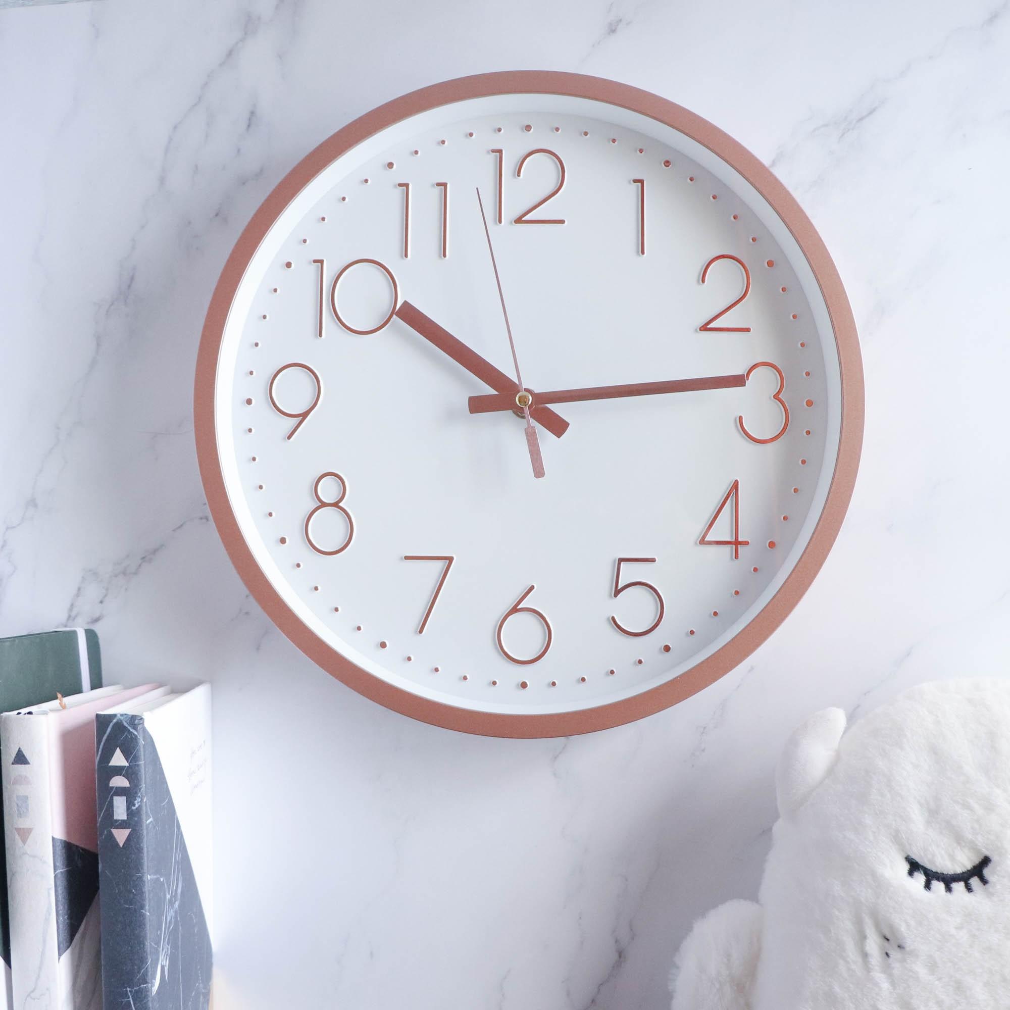 極簡靜音掛鐘 ️六色可選 時鐘 北歐風掛鐘 北歐風 掛鐘 壁掛時鐘 【H0136】