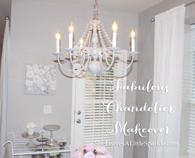 Fabulous Vintage Chandelier Makeover Diy Chalk Paint Dear Lillie Restoration Hardware Pottery Barn