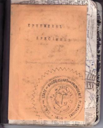 Inside back cover w/envelope