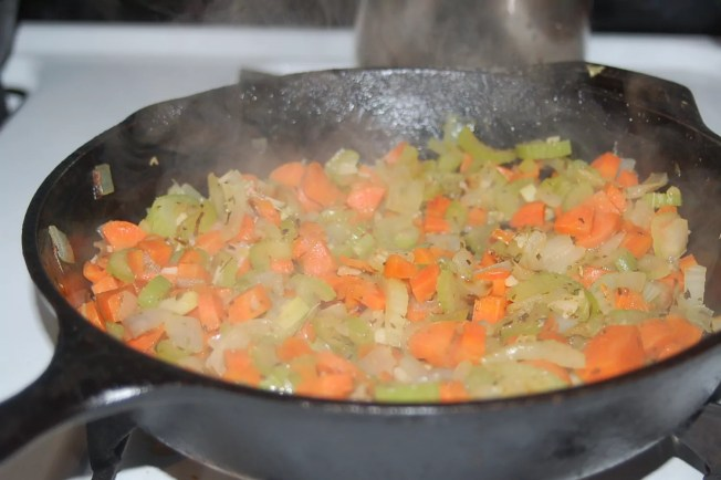 Mirepoix in the cast iron