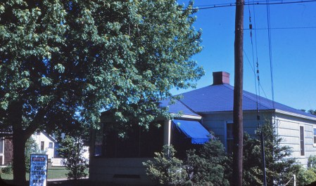 The Ford family lived in this house, photographed in 1945.