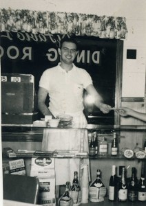 Co-owner Louis DiFabio working the restaurant. Louis DiFabio collection.
