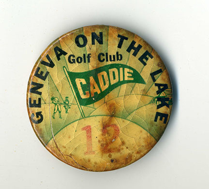 A caddie bag from GOTL's Village Golf Course. Jack Sargent collection.