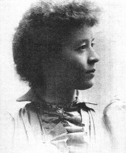 An early portrait of Jennie Munger.