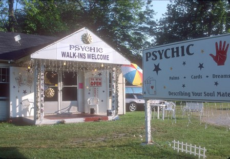 In 2002 a psychic was doing business in the former service station.