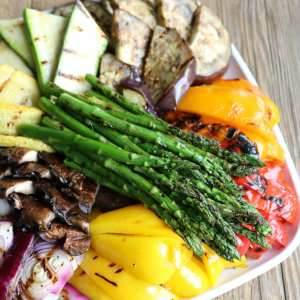 grilled, grilling, vegetable, platter, catering, easy, entertaining