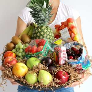 fruit, basket, floral, catering, buy online