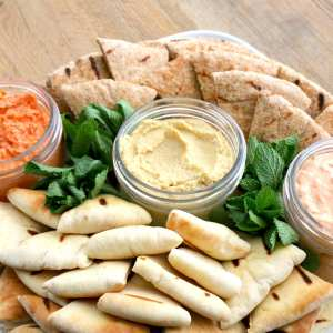 spreads, dips, grilled, pitas, dip, yum, catering, platter