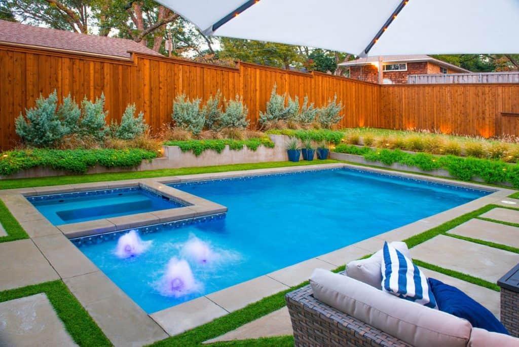 Backyard Design & Construction Bellewood Dr, Dallas ... on Rectangular Backyard Design id=16621