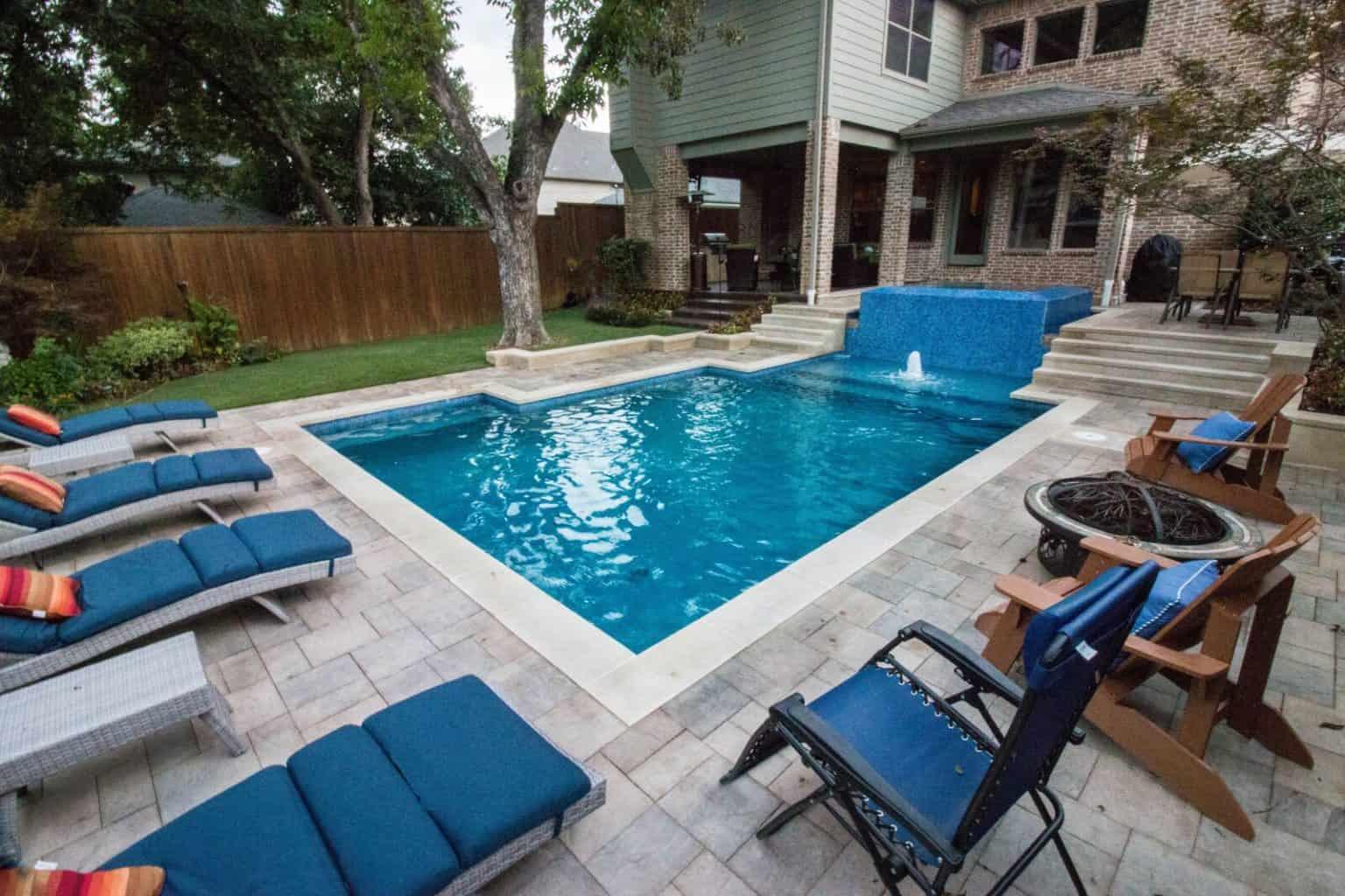 Pool with Raised 360 Degree Negative Edge Spa | Summerhill ... on Modern Backyard Ideas With Pool id=43303