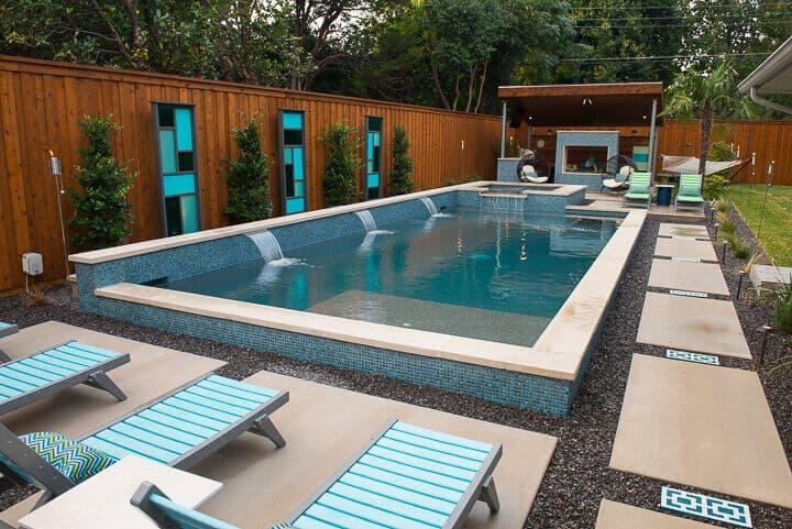 Modern Pool Builders Dallas TX | Summerhill Pools on Modern Backyard Ideas With Pool id=22892