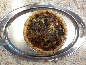 Greens Pie in a Lard Crust