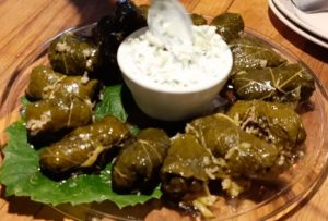 Dolmades with Tzatziki