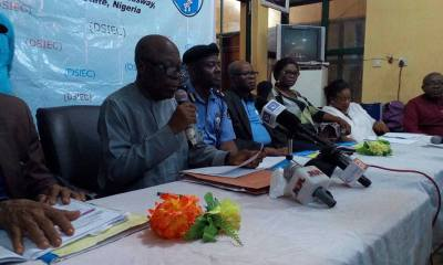 DSIEC Chairman, Chief Mike Ogbodu Announcing LG Election Results