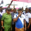 Hon. Festus Okoh Speaking during the Political Rally by The Okowa We Support Group in Agbor