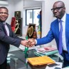 Photo caption. Edo State Governor, Mr. Godwin Obaseki (right), with Edo State Accountant General, Mr. Julius Osemen Anelu, at Government House, in Benin City, Edo State.