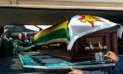 Casket Bearing Late Robert Mugabe's Body