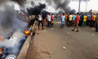 Youths Set BMW Vehicle Ablaze Over Killing of Four Children